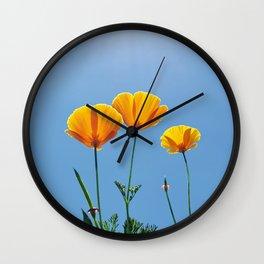 Poppy Daydream Wall Clock