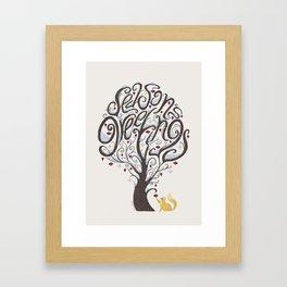 Season's Greetings Framed Art Print