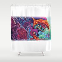 beast Shower Curtains featuring Hyper Beast by Hypse