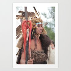 Red Hawk, Lakota Warrior Art Print