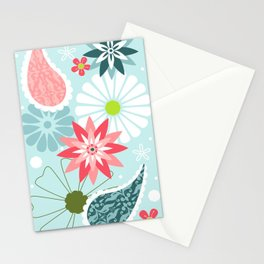 Spring Paisley Stationery Cards