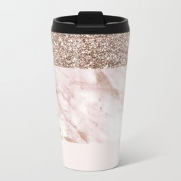Portofino marble rose gold luxe Travel Mug