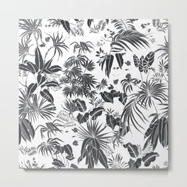 Jungle in black and white Metal Print