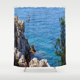 Cap Ferrat Cliff Jumpers Shower Curtain