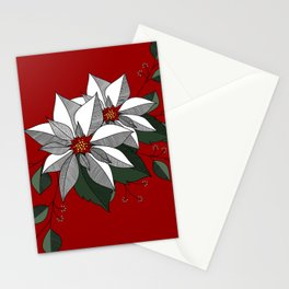 Holiday Flowers Stationery Cards