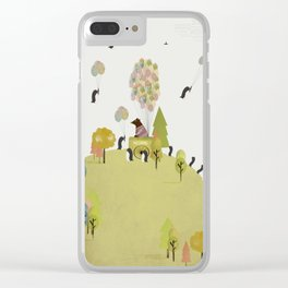 oh my how penguins fly Clear iPhone Case