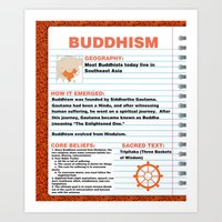 buddhism Art Prints featuring Buddhism Poster by Idle Amusement