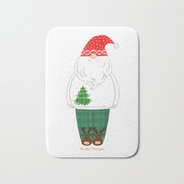 Santa in PJs 1 Bath Mat