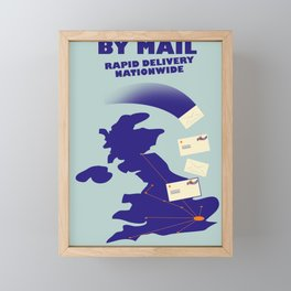 By Mail Framed Mini Art Print