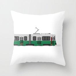 Boston Green Line Train Throw Pillow