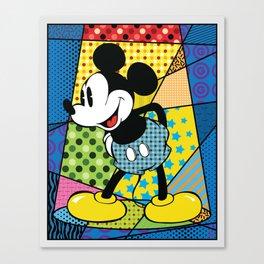 Mickey Spotlight Canvas Print