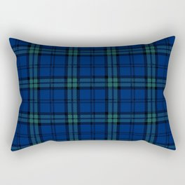Minimalist Black Watch Tartan Modern Rectangular Pillow