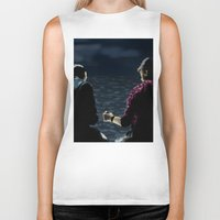stargate Biker Tanks featuring John and Rodney on the Pier by dammitspawk