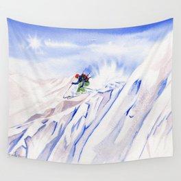 Powder Skiing Wall Tapestry
