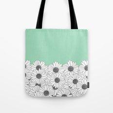 Daisy Boarder Mint Tote Bag