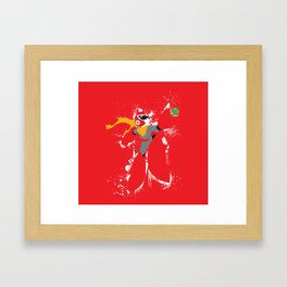 Protoman Splattery Design Framed Art Print