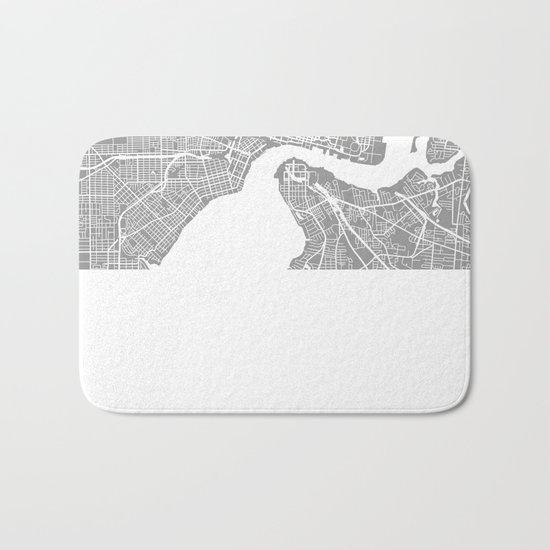 Jacksonville map grey Bath Mat
