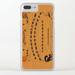 Vintage Talking Board Clear iPhone Case