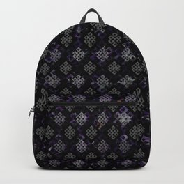 Endless Knot pattern - Silver and Amethyst Backpack