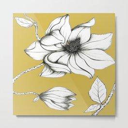 Magnolia Ocra Metal Print