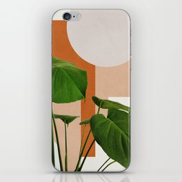 Abstract shapes art, Tropical leaves, Plant, Mid century modern art iPhone Skin