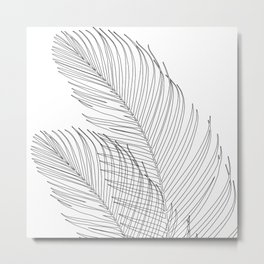 Palm Leaves Finesse Line Art #1 #minimal #decor #art #society6 Metal Print