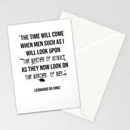 Leonardo Da Vinci Animal Rights Quote Stationery Cards