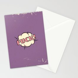 Realistic Comic Bubbles Stationery Cards