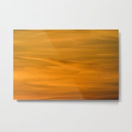 OFF INTO THE SUNSET Metal Print