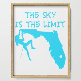 The Sky Is The Limit Climbing Girl Florida Map Mountains Gift Serving Tray