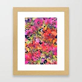 Midnight Magenta Garden Framed Art Print