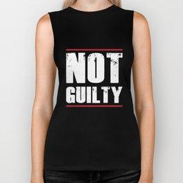 Not Guilty TShirt Distressed Prisoner Jail Inmate Prison Tee Biker Tank