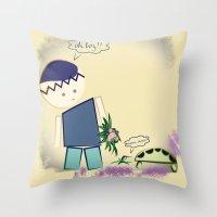 best friends Throw Pillows featuring Best Friends by famenxt