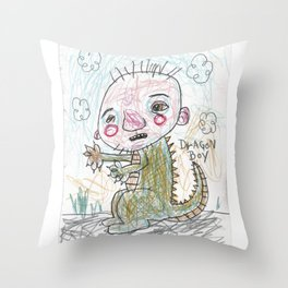 Dragon Boy Throw Pillow