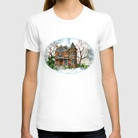 victorian T-shirts featuring Victorian Winter by Shelley Ylst Art