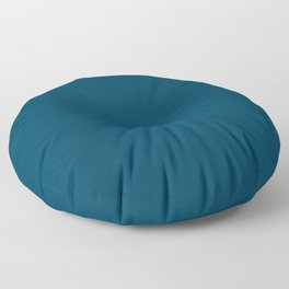 Dark Teal Blue Solid Color Floor Pillow