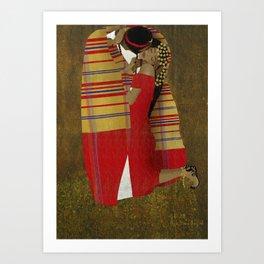 """Al Bousa """"The Kiss"""" Art Print"""