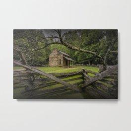 Oliver Log Cabin in Cade's Cove Metal Print