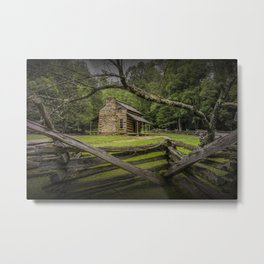 Oliver Log Cabin in Cade's Cove Metal Print