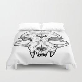 Cat Skull II Duvet Cover