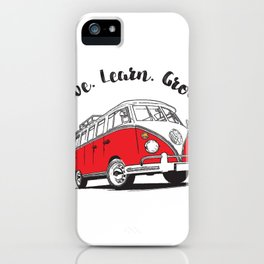 Live, learn, Grown. iPhone Case