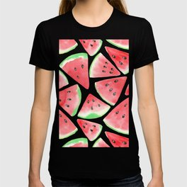 Watermelon slices pattern T-shirt