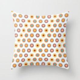 Casino Chip Pattern Throw Pillow