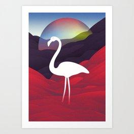 Paper Flamingo in Tibet Art Print