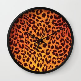 Leopard Pattern Wall Clock