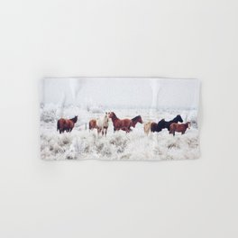 Winter Horseland Hand & Bath Towel