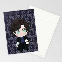 The name is Sherlock Holmes and the address is 221B Baker Street Stationery Cards