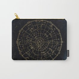 Golden Star Map Carry-All Pouch