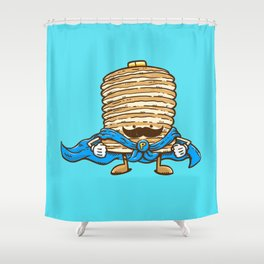 Captain Pancake's Mustache Shower Curtain