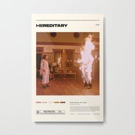 Hereditary,Ari Aster,Vintage Retro Art Print, Minimalist Movie Poster, Wall Art Metal Print